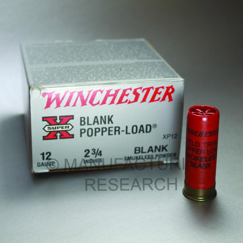 12 Ga blanks smokeless Winchester (qty 25)